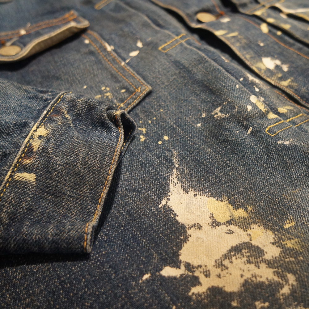 Painting Washed Denim