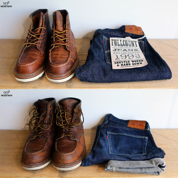 Redwing and Fullcount Raw or Worn