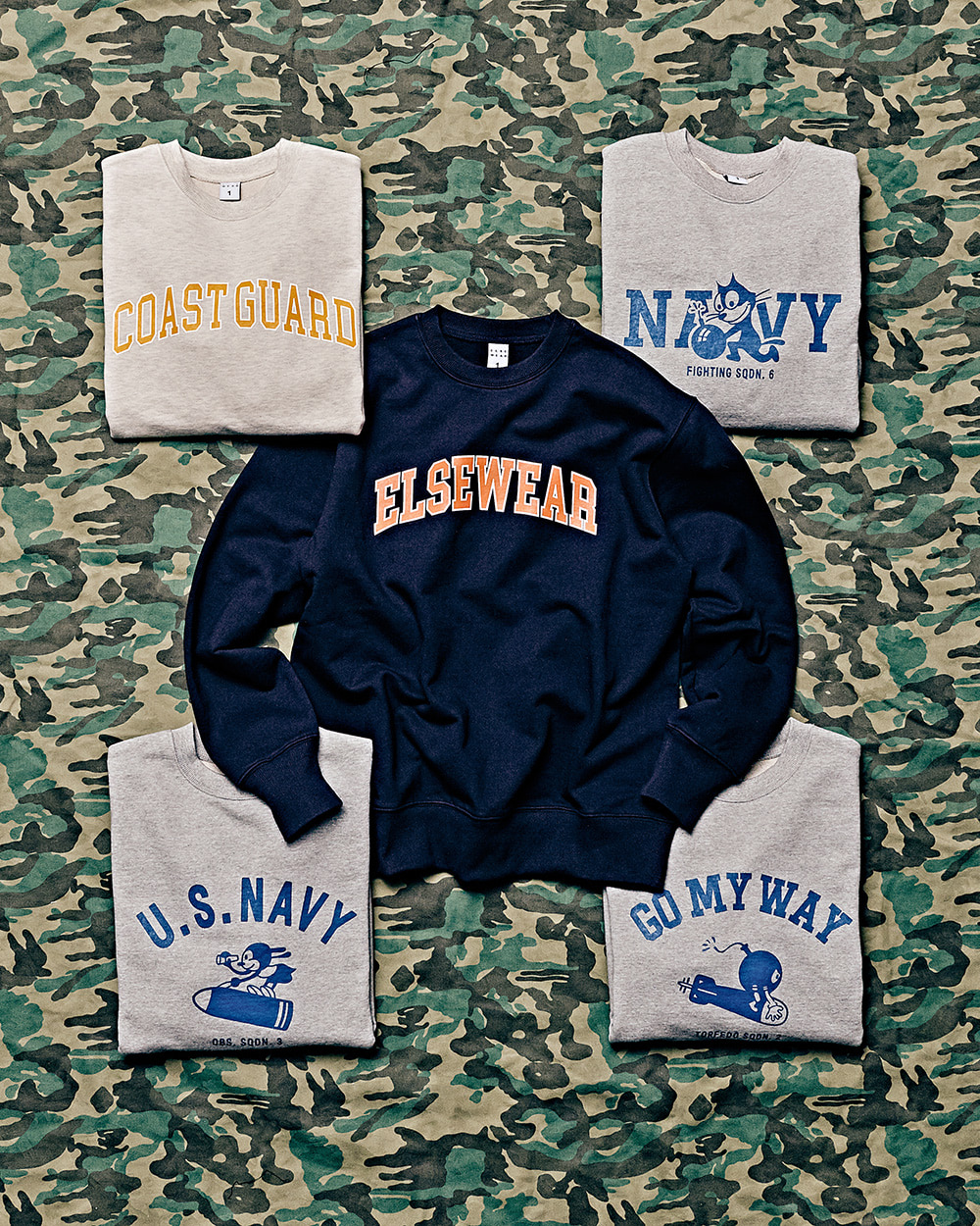 [ELSEWEAR] 2020FW MILITARY SWEAT